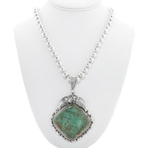 Green Turquoise Navajo Pendant 32999