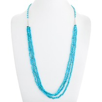Three Strand Natural Turquoise Necklace 41102