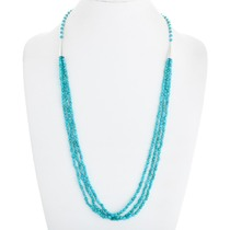 Natural Arizona Turquoise Bead Necklace 41103