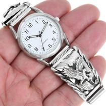 Sterling Eagle Design Silver Watch 24457