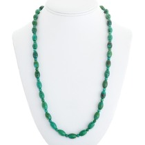 Navajo Green Turquoise Bead Necklace 41105