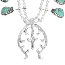 Number 8 Turquoise Navajo Necklace 41110