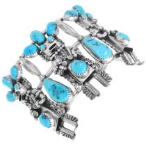 Sterling Silver Turquoise Kachina Bracelet41123