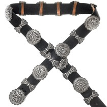 Old Pawn Sterling Silver Navajo Concho Belt 41125