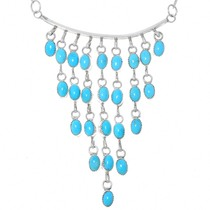 Native American Sleeping Beauty Turquoise Necklace 41129