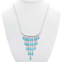 Navajo Turquoise Waterfall Necklace 41129