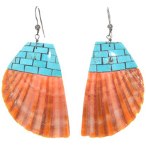 Turquoise Spiny Oyster Shell Earrings 41147