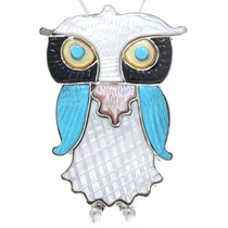 Zuni Multistone Owl Pendant 41148