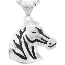 Large Sterling Silver Navajo Horse Pendant 41149