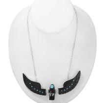 Native American Black Eagle Necklace 41150