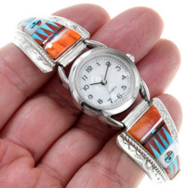 Turquoise Spiny Oyster Sunface Gemstone Watch 41153
