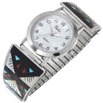 Sterling Silver Zuni Inlay Watch 41154