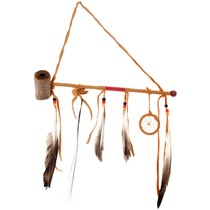 Native American Antler Peace Pipe 41155