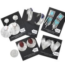 Various Styles Native American Earrings 5 Pair 37282