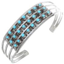 Turquoise Sterling Silver Zuni Bracelet 41160