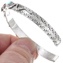 Sterling Silver Zuni Snake Design Turquoise Bracelet 41161