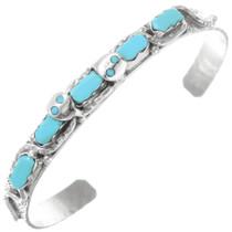 Zuni Turquoise Snake Bracelet 41164