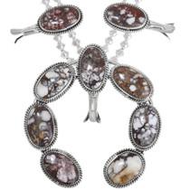 Sterling Silver Native American Squash Blossom Necklace 41165