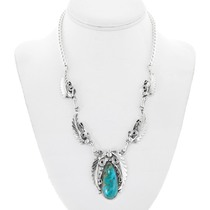 Native American Natural Turquoise Necklace 41167