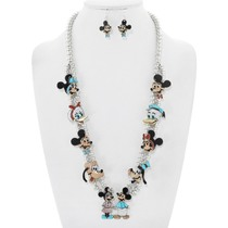 Native American Disney Character Necklace Earrings Set