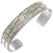 Zuni Sterling Silver Fiery Opal Bracelet 41170