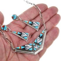 Geometric Zuni Pattern Turquoise Jewelry Set 41171