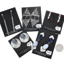 Five Pair Set of Vintage Native American Earrings 37283