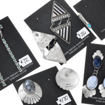 Navajo Zuni Sterling Silver Turquoise Earrings Variety Pack Bundle 37283