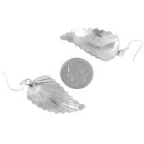 Silver French Hook Dangle Earrings Artist Sam Arviso Signed 41173