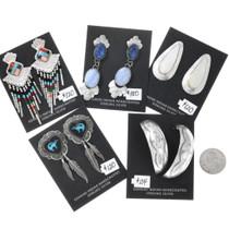 Vintage Native American Earrings Bundle 5 Pair Super Set 37285