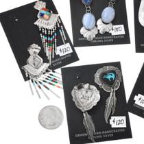Heartline Bear Navajo Sterling Silver Hoop Earrings Bundle 37285