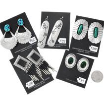 Vintage Navajo and Hopi Earrings 5 Pair Bundle 37286