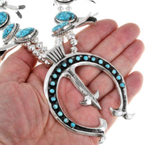 Sterling Silver Blue Turquoise Necklace 41175