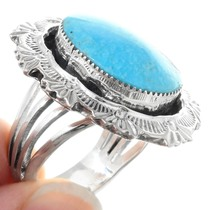 Sterling Silver Blue Turquoise Ring 41191