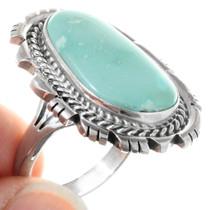 Green Turquoise Navajo Ladies Ring 41192