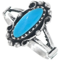 High Grade Turquoise Sterling Silver Ring 41194
