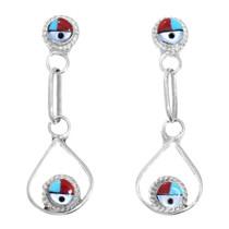 Sterling Silver Zuni Sunface Earrings 41199