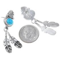 Navajo Made Turquoise Earrings Artist Sharon McCarthy 41205
