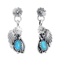 Sterling Silver Turquoise Native American Earrings 41206