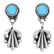 Santa Fe Sterling Silver Turquoise Earrings 41207