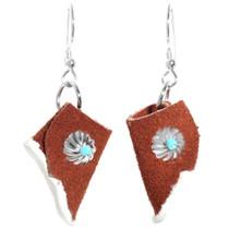 Navajo Turquoise Concho Moccasin Earrings 41209