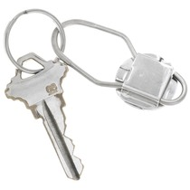 Sterling Silver Shell Turquoise Key Chain 41215