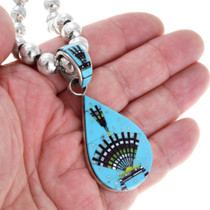 Sleeping Beauty Turquoise Sterling Silver Pendant 41217