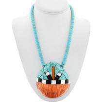 Santo Domingo Kewa Turquoise Heishi Shell Necklace 41220