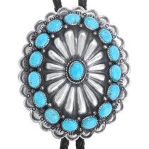 Natural Turquoise Native American Bolo Tie 41230