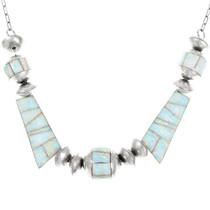 Fiery Opal Inlay Navajo Necklace 41233