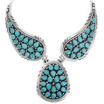 Natural Turquoise Navajo Necklace 39826