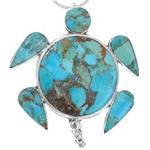 Native American Turquoise Sea Turtle Pendant