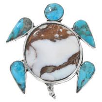 Native American Turquoise Sea Turtle Pendant 41241