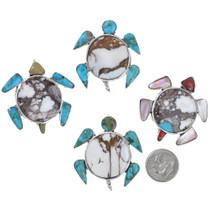 Zuni Inlay Sea Turtle Pendant Brooch 41241